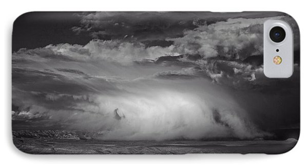 IPhone Case featuring the photograph Snowy Mix Storm Over The Verde Valley by Ron Chilston