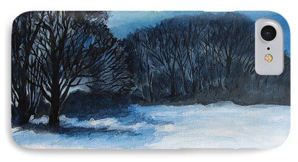 Snowy Moonlight Night IPhone Case