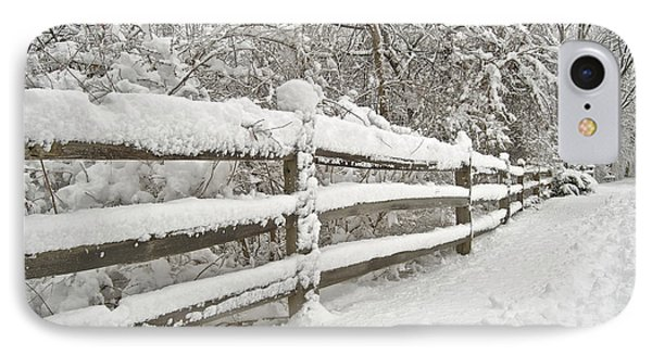 Snowy Morning Phone Case by Michael Peychich