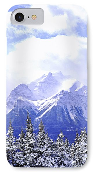 Mountain iPhone 7 Case - Snowy Mountain by Elena Elisseeva