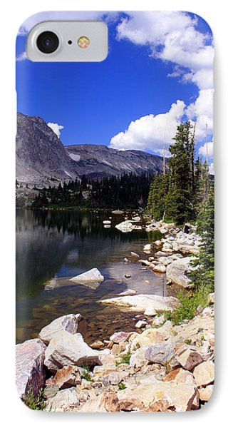 Snowy Mountain Lake Phone Case by Marty Koch