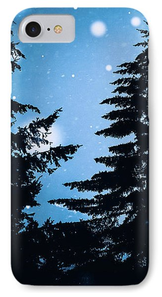 Snowy Night IPhone Case by Debi Bishop