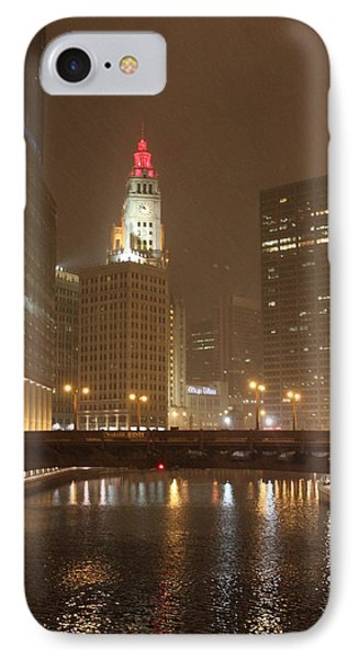 Snowy Night In Chicago IPhone Case by Lauri Novak