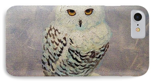 Snowy Owl IPhone Case by Janet McDonald