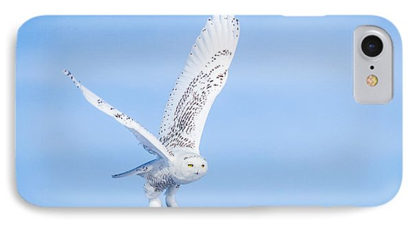 IPhone Case featuring the photograph Snowy Owls Soaring by Rikk Flohr