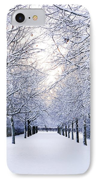 Snowy Pathway IPhone Case by Marius Sipa
