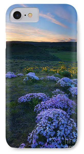 Snowy Phlox Sunset IPhone Case