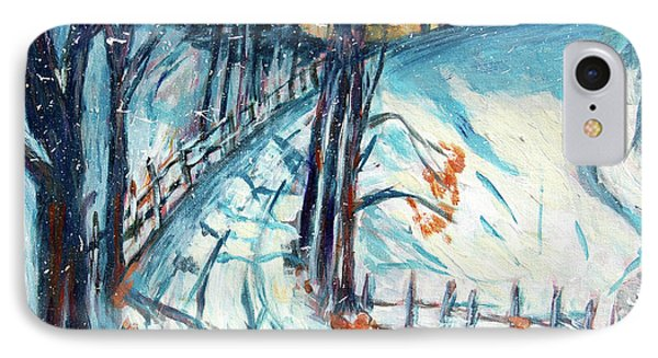 Snowy Road Phone Case by Carolyn Donnell