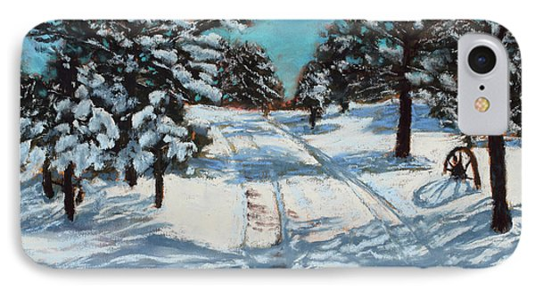 Snowy Road Home IPhone Case
