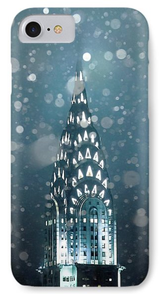 Chrysler Building iPhone 7 Case - Snowy Spires by Az Jackson