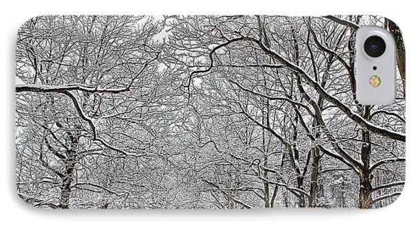 Snowy Treeline IPhone Case by Aimee L Maher Photography and Art Visit ALMGallerydotcom
