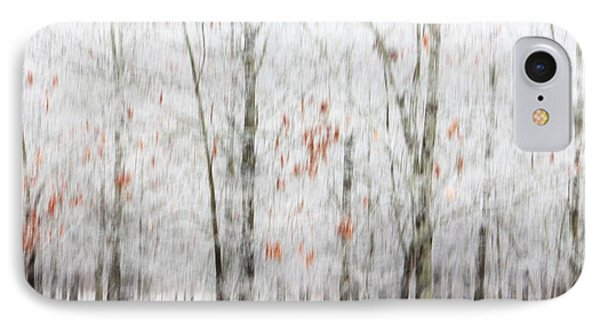 IPhone Case featuring the photograph Snowy Trees Abstract by Benanne Stiens