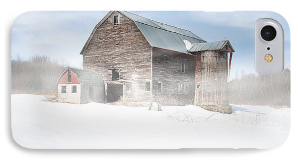 IPhone Case featuring the photograph Snowy Winter Barn by Gary Heller
