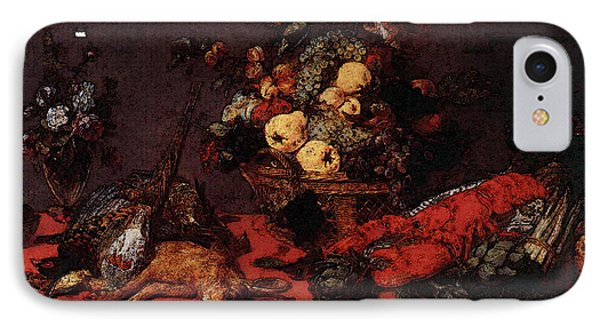 Snyders Frans Still Life With A Basket Of Fruit IPhone Case by Frans Snyders
