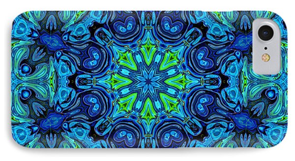So Blue - 04v2 - Mandala Phone Case by Aimelle