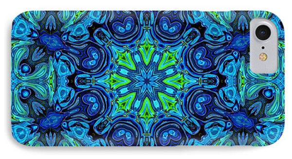 So Blue - 04v2 - Mandala IPhone Case by Aimelle