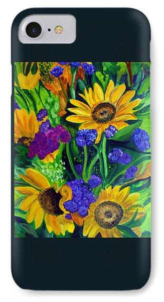 Sunflowers -soaking Up Sunshine IPhone Case by Julie Brugh Riffey