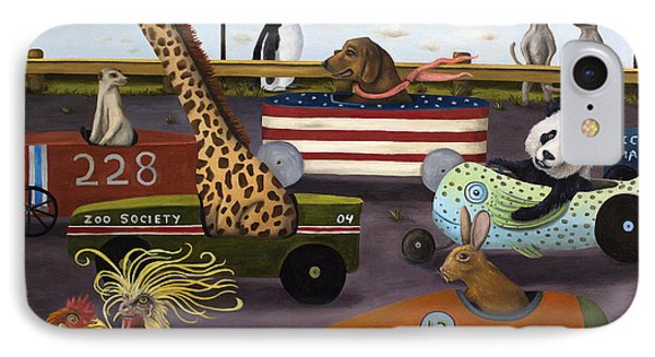 Meerkat iPhone 7 Case - Soap Box Derby by Leah Saulnier The Painting Maniac