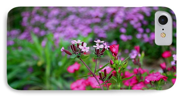 IPhone Case featuring the photograph Soapwort And Pinks by Kathryn Meyer