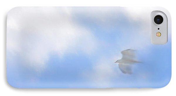 Soar - Seagull Over Carmel California IPhone Case by Steve Ohlsen