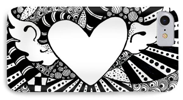 Soaring Heart  Phone Case by Nada Meeks