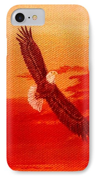 IPhone Case featuring the painting Soaring by Katherine Young-Beck