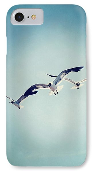 Soaring Seagulls IPhone Case by Trish Mistric