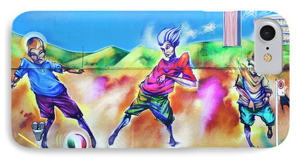 IPhone Case featuring the photograph Soccer Graffiti by Theresa Tahara