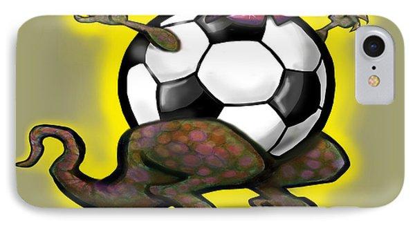 Soccer Saurus Rex Phone Case by Kevin Middleton