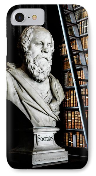 Socrates A Writer Of Knowledge IPhone Case by Lexa Harpell