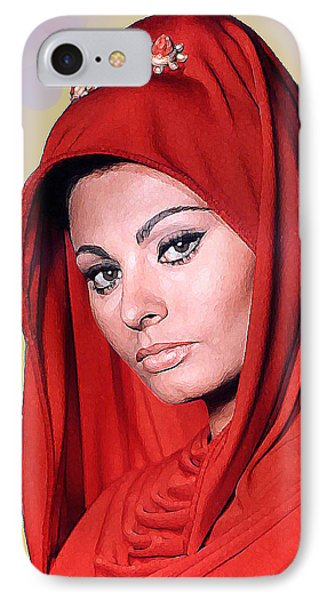 Sofia Loren Phone Case by John Keaton