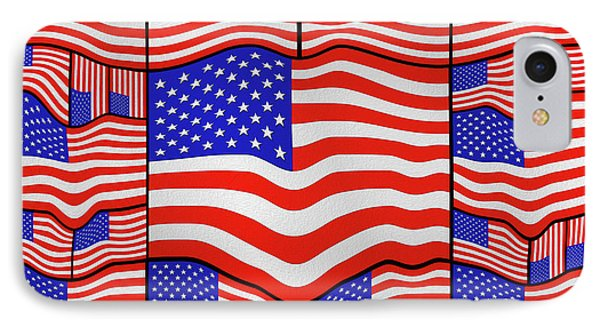Soft American Flags 3 IPhone Case by Mike McGlothlen