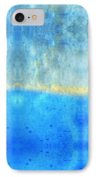 Soft Blue Serenity Art By Sharon Cummings IPhone Case by Sharon Cummings