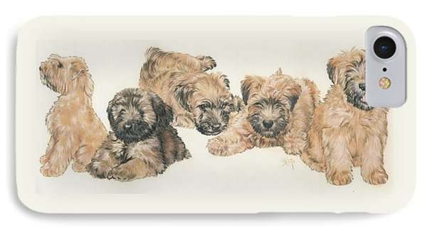 Soft-coated Wheaten Terrier Puppies IPhone Case by Barbara Keith