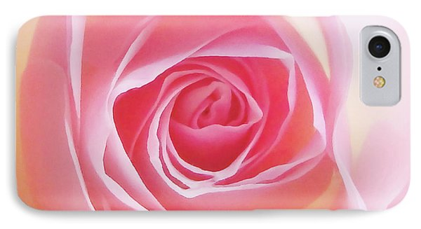 Soft Glowing Rose IPhone Case