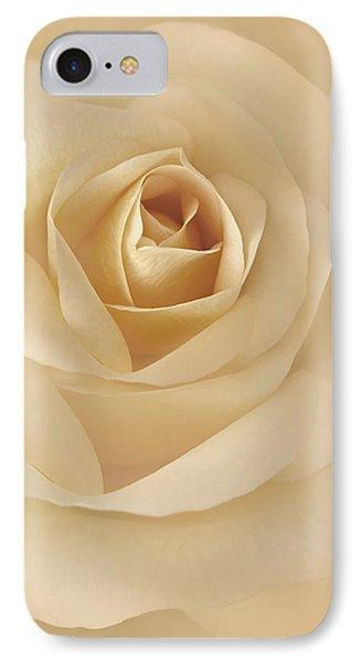 Soft Golden Rose Flower Phone Case by Jennie Marie Schell