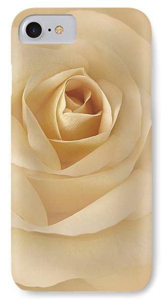 Soft Golden Rose Flower IPhone Case by Jennie Marie Schell