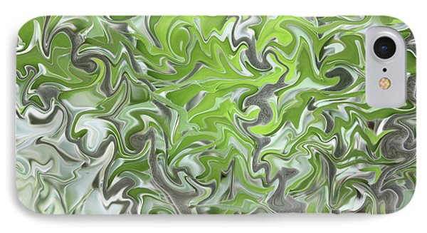 Soft Green And Gray Abstract Phone Case by Carol Groenen