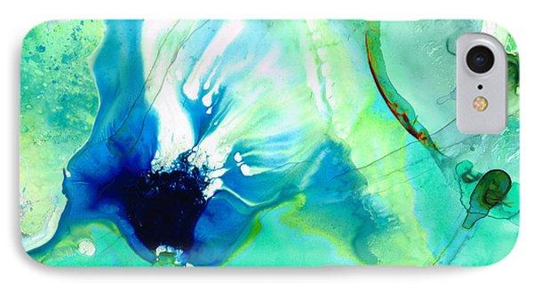 Soft Green Art - Gentle Guidance - Sharon Cummings IPhone Case by Sharon Cummings