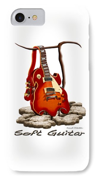 Soft Guitar - 3 IPhone Case by Mike McGlothlen