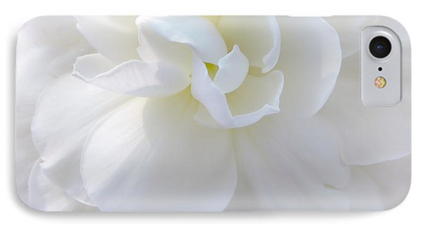 Soft Ivory Begonia Flower Phone Case by Jennie Marie Schell