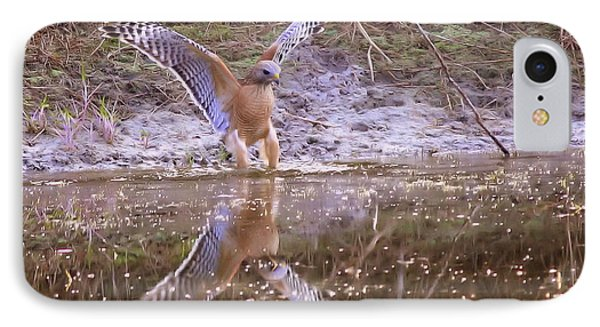 Soft Landing On The Pond Phone Case by Carol Groenen