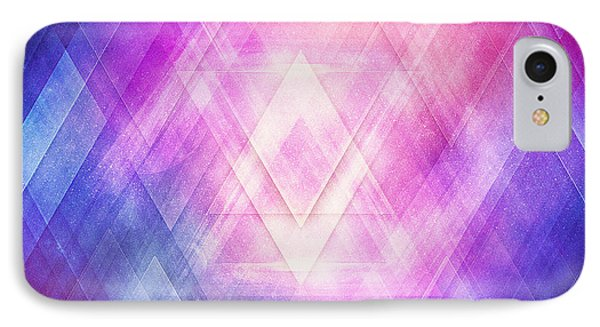 Soft Modern Fashion Pink Purple Bluetexture  Soft Light Glass Style   Triangle   Pattern Edit IPhone Case by Philipp Rietz