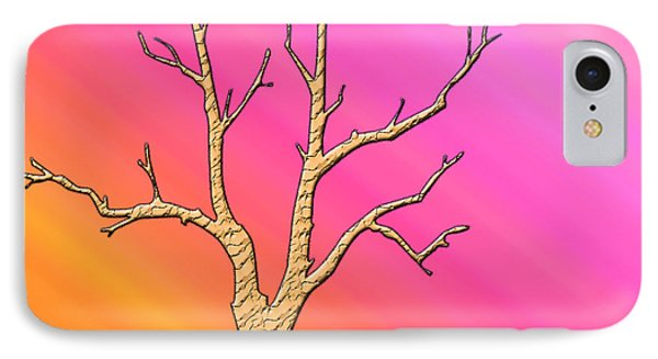 Soft Pastel Tree Abstract IPhone Case