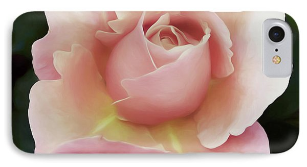 Soft Rose And Greenery Wall Art IPhone Case by Georgiana Romanovna