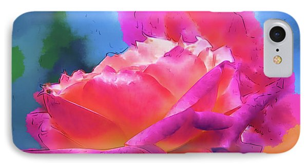 Soft Rose Bloom In Red And Purple IPhone Case