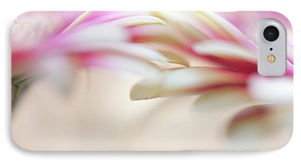 IPhone Case featuring the photograph Soft Touch. Macro Gerbera by Jenny Rainbow