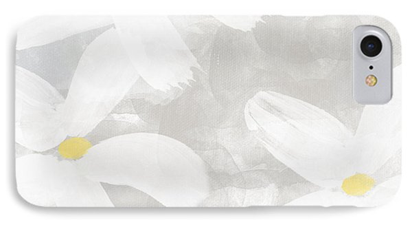 Soft White Flowers IPhone Case by Linda Woods