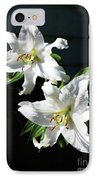 Soft White Lilies IPhone Case by Carol Groenen