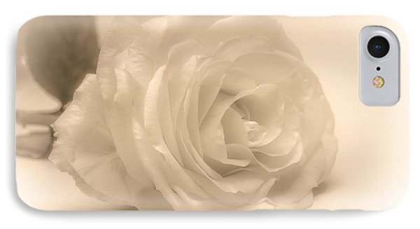 IPhone Case featuring the photograph Soft White Rose by Scott Carruthers